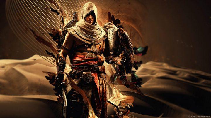 Assassins' Creed Origins Falcon 4K Wallpaper