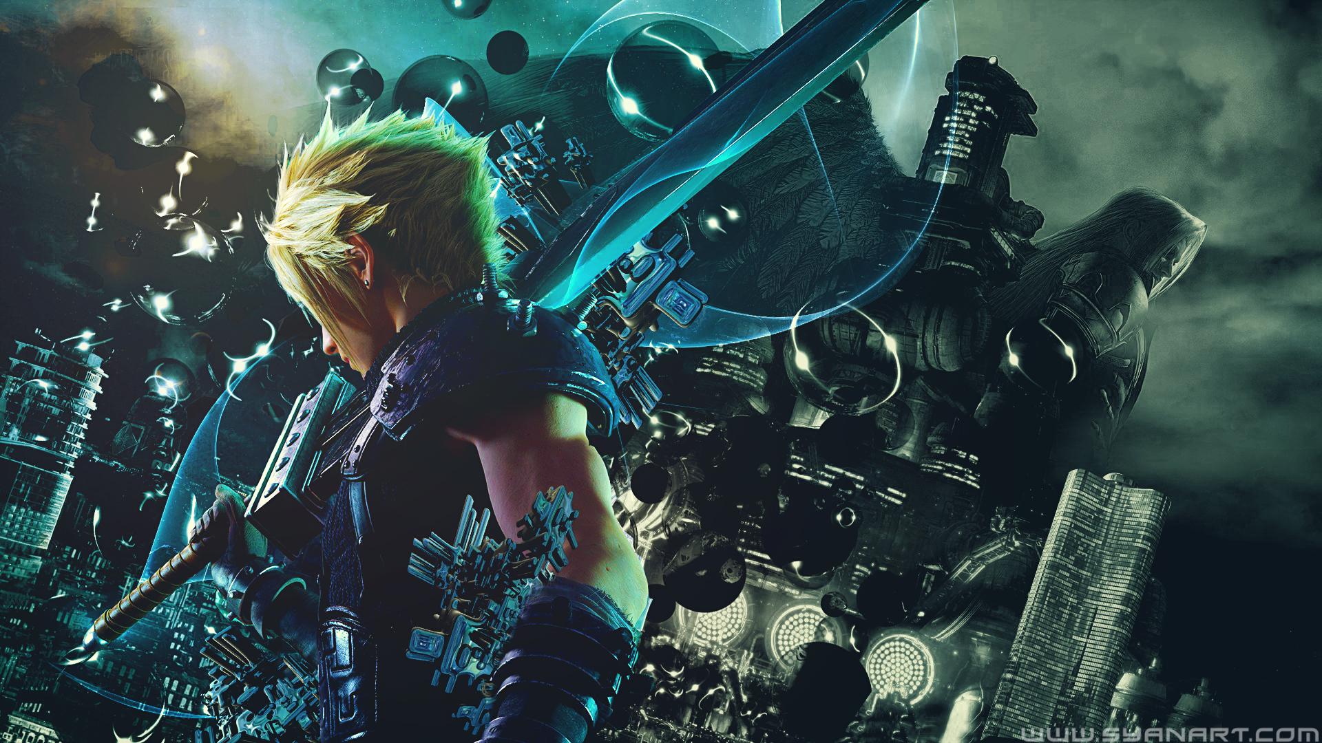 Final Fantasy 7 Remake Hack And Slash Wallpaper Syanart Station