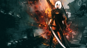Nier Automata Platinum Wallpaper