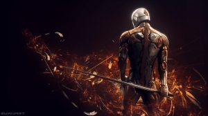 Metal Gear Solid – Gray Fox FullHD Wallpaper