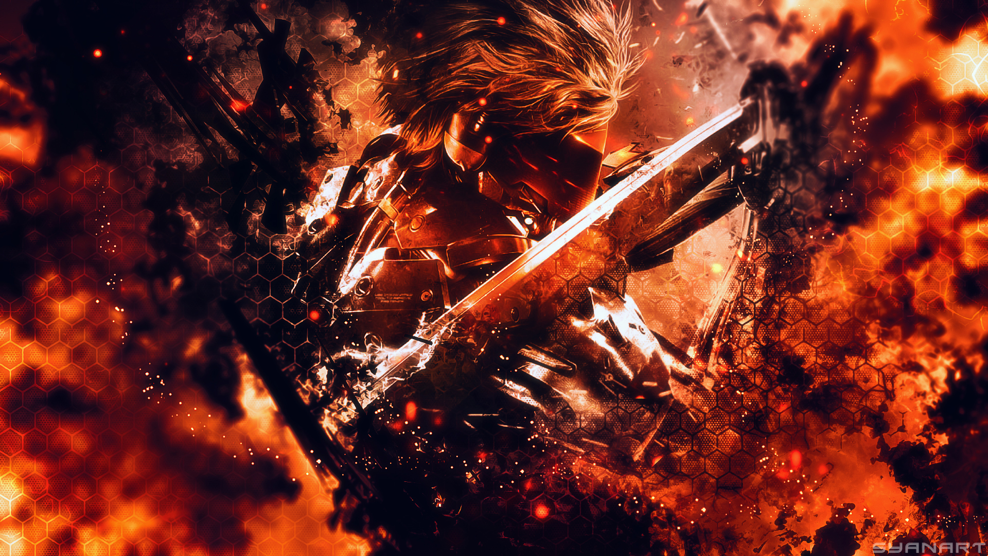 metal gear rising jack is up to play! wallpaper | syanart exclusive