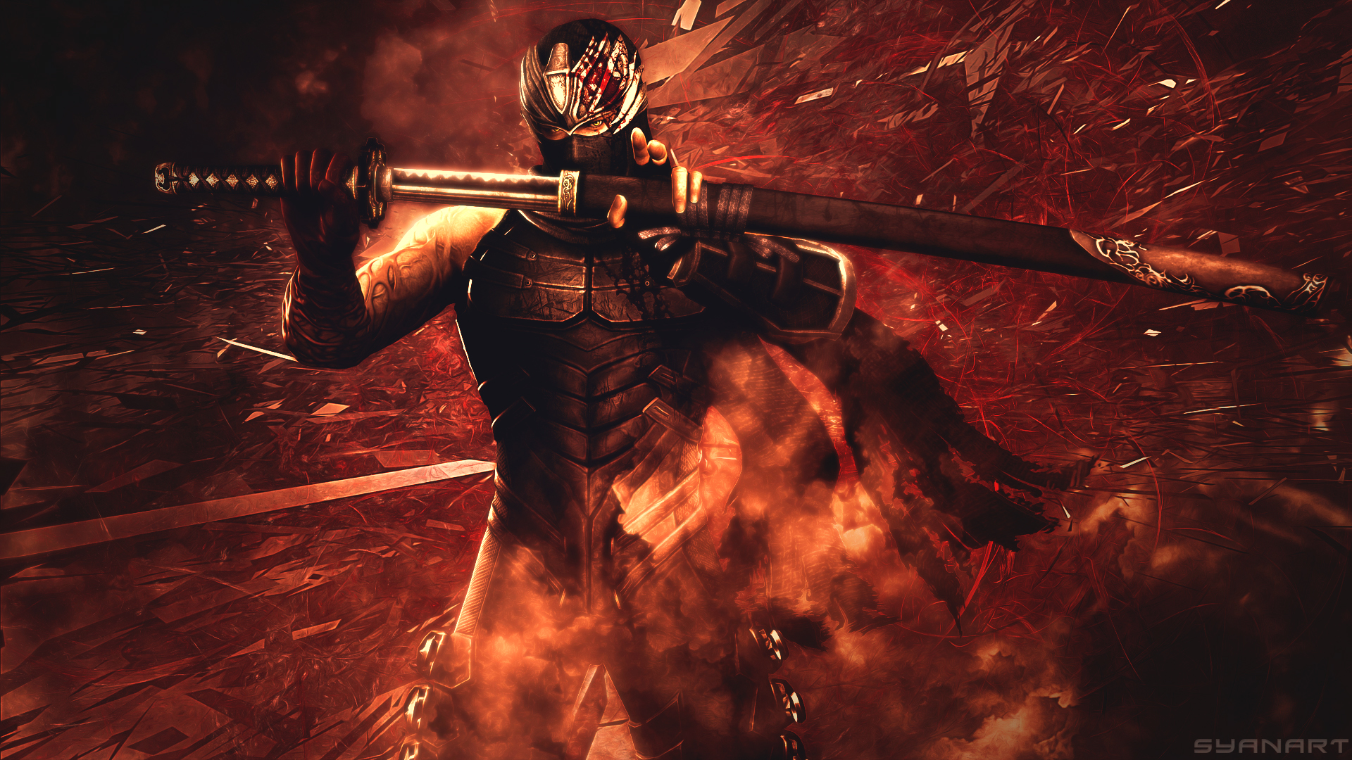 ninja gaiden 3 ryu hayabusa dragon sword wallpaper | syanart