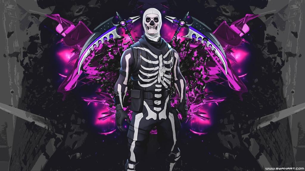 Fortnite Skull Trooper 4K Wallpaper