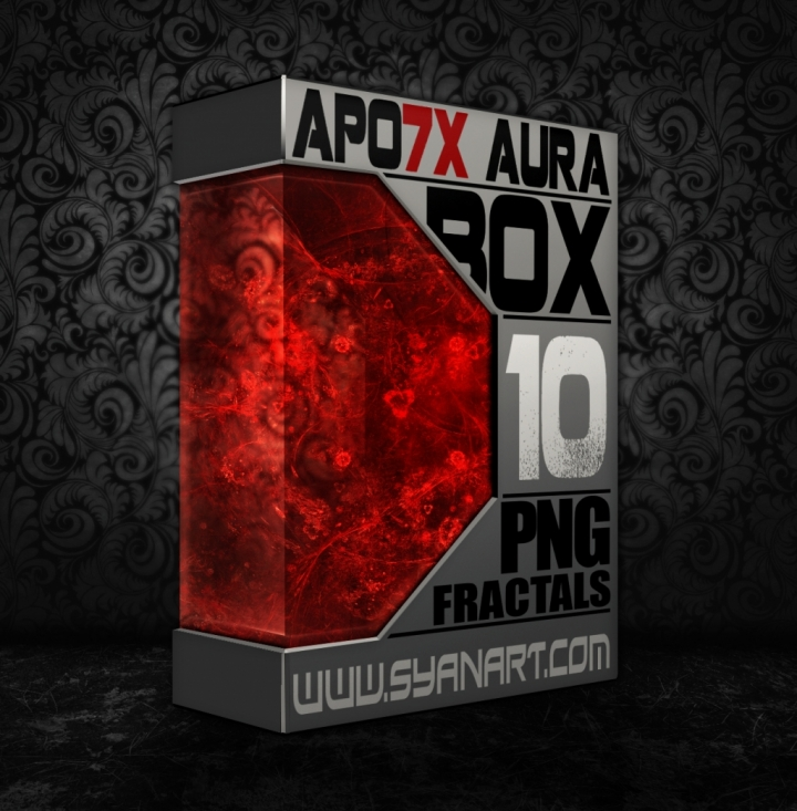 Apo7X 10 Full HD PNG Fractals – Red Blood