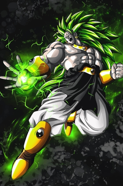 Dragon Ball Z Anime Broly Poster