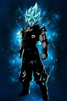 Dragon Ball Super Goku Super saiyan blue poster