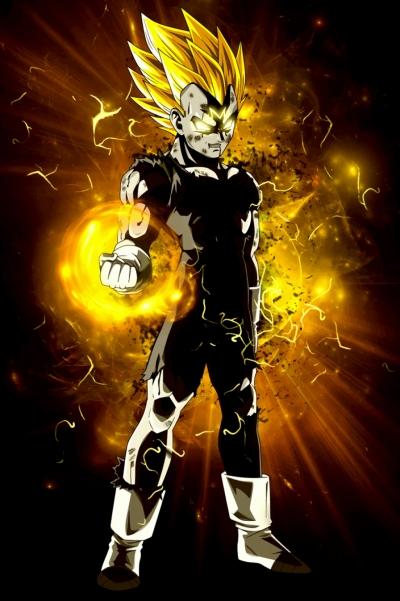 Dragon Ball Z Majin Vegeta poster Print