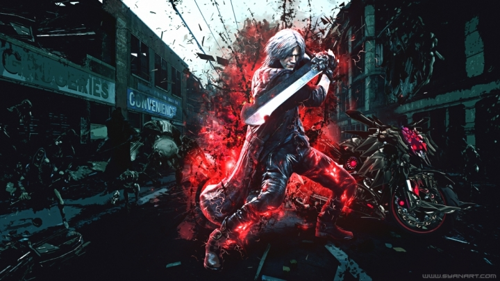 Devil May Cry 5 – Dante's Motorbike 4K Wallpaper