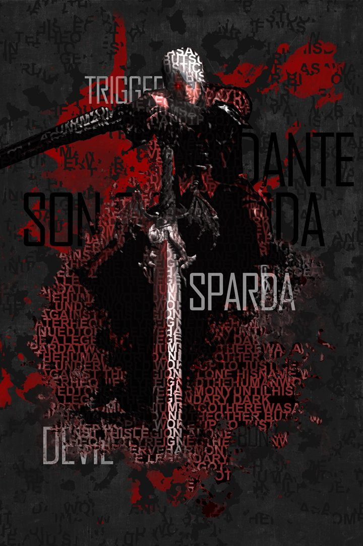 Devil May Cry 1 Type Poster Print