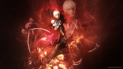 Devil May Cry 3 – Dante's Aura Wallpaper