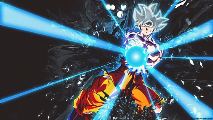 Dragon Ball Super – Goku Ultra Instinct White 4K Wallpaper