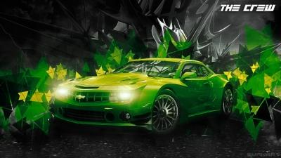 The CREW Green Car Wallpaper
