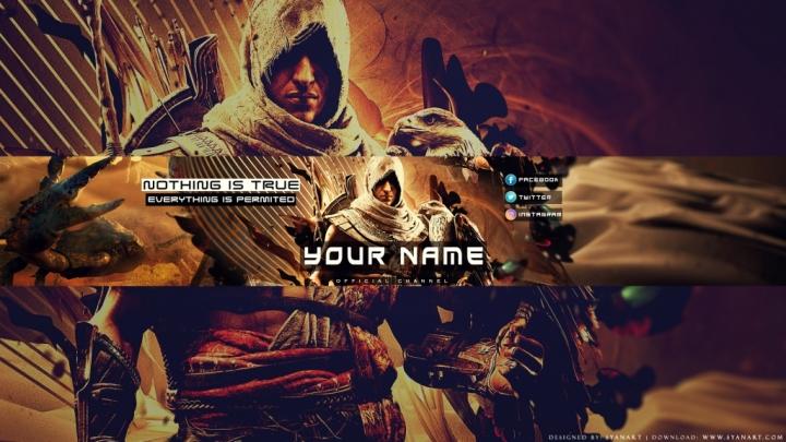 Assassin's Creed Origins 2017 Youtube Banner