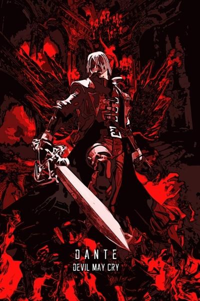 Devil Hunter Legacy Dante Sparda Poster
