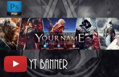 Youtube 2017 Banner ! Assassin's Creed origins PSD